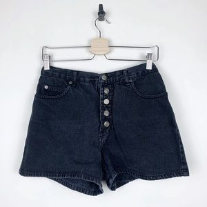 Vintage High Waisted Button Fly Denim Shorts